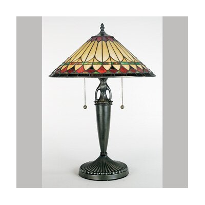 Quoizel Westlake Tiffany  Table Lamp in Vintage Bronze