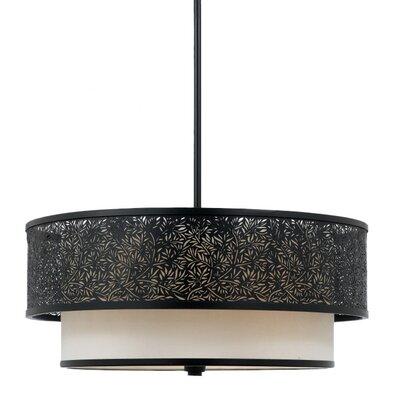 Quoizel Utopia 3 Light Uplight Drum Pendant