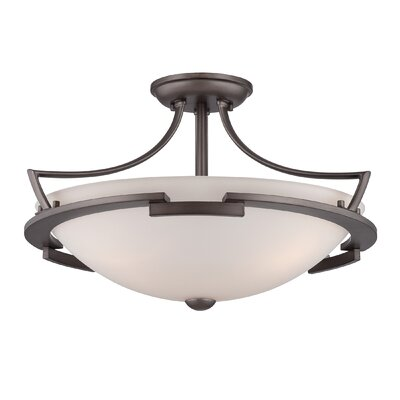 Quoizel Parkston 3 Light Semi-Flush Mount