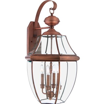 Quoizel Newbury 4 Light Outdoor  Wall Lantern