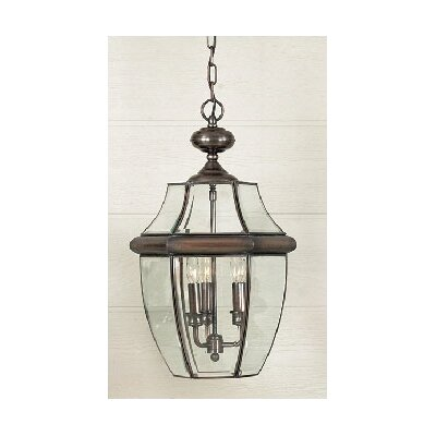 "Quoizel 21"" Newbury Outdoor  Hanging Lantern in Aged Copper"