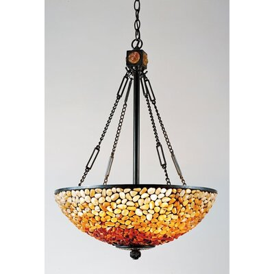 Pomez 3 Light Tiffany Inverted Pendant