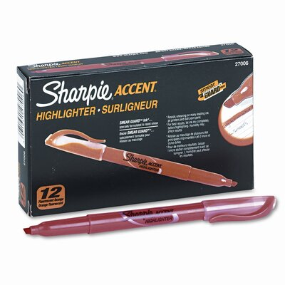 Sharpie® Accent Pocket Style Highlighter, Chisel Tip, 12/ Pack
