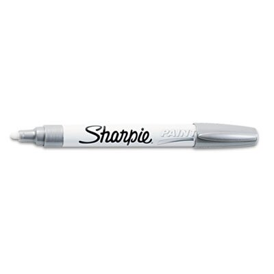 Sharpie® Permanent Paint Marker, Medium Point, Silver