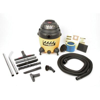 Shop-Vac 12 Gallon 2.5 Peak HP Lock-on Hose Two-Stage Industrial Multi Purpose Wet / Dry Vacuum