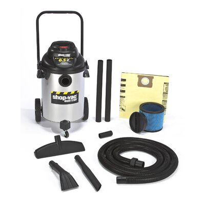 Shop-Vac 10 Gallon Stainless Steel 6.5 Peak HP Right Stuff Wet / Dry Vacuum