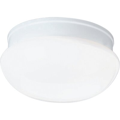 Progress Lighting White Glass Platinum Mist Flush Mount
