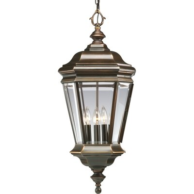 Progress Lighting Crawford Cast 4 Light Outdoor Hanging Lantern