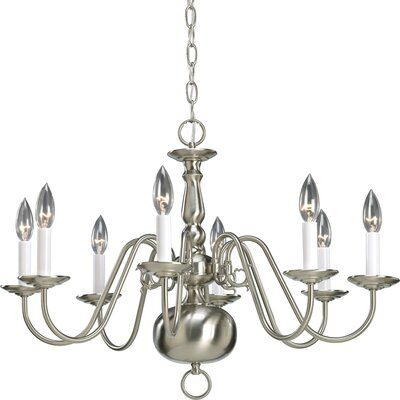 Progress Lighting Americana 8 Light Candle Chandelier