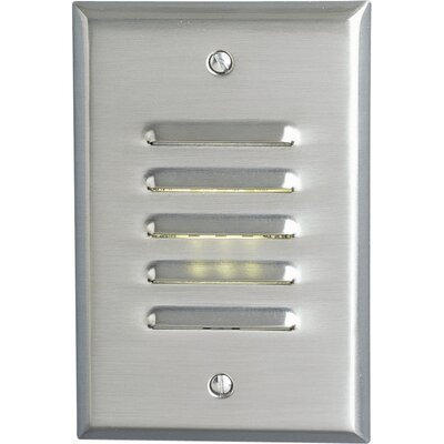Progress Lighting Everlume Mini Vertical Step or Wall Louvered Light in Brushed Nickel