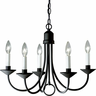 Brushed Nickel Light 5 Light Candle Light Chandelier