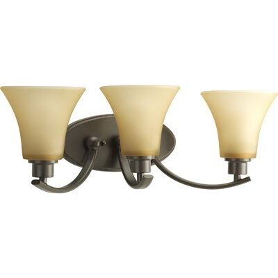 Progress Lighting Joy Three Light Bath Vanity in Antique Bronze