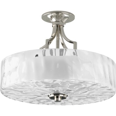Progress Lighting Caress 2 Light Semi Flush