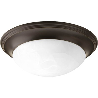 Alabaster 2 Light Flush Mount