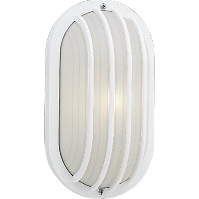 Progress Lighting Polycarbonate Oval Incandescent 1 Light Outdoor Wall Lantern with Grill