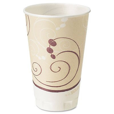 Solo Cups Company Symphony Design Trophy Foam Hot/Cold Drink Cups, 750 Cups/Carton