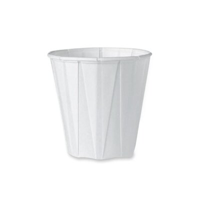 Solo Cups Pleated Paper Cup, 100/BG, White