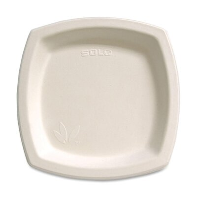 "Solo Cups Bare Sugar Cane Plate, 8.25"", 125/BG Warm Neutral"