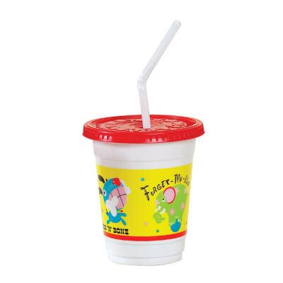 Solo Cups Plastic Kids' Cups with Lids/Straws in Critter Print