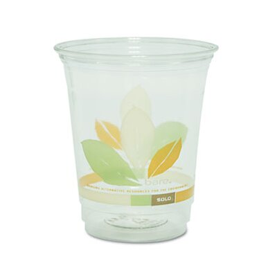 Solo Cups Company Bare Rpet Cold Cups with Leaf Design, 12 Oz., 50/Pack