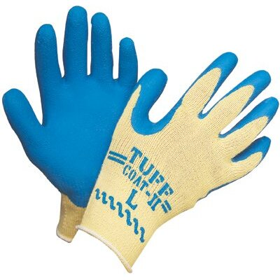 Sperian Welding Protection Tuff-Coat ll™ Gloves - large 10 cut kevlar atlas glove w/blue latex pal