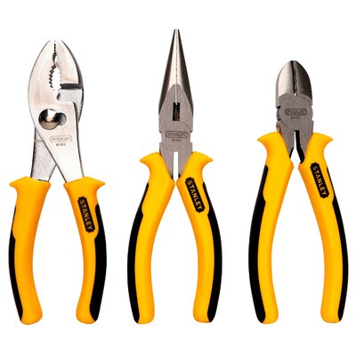 Stanley Tools 3 Piece Heavy Duty Combination Pliers 84-056