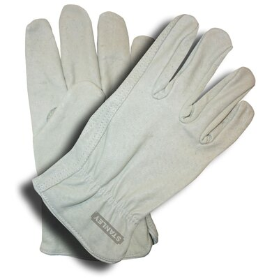 Stanley Tools Unlined Grain Pigskin Driver Gloves
