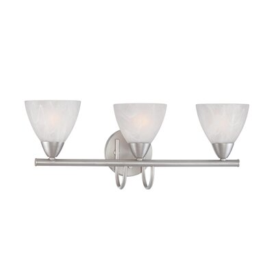 Thomas Lighting Tia Three Light Bath Lamp in Matte Nickel