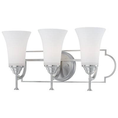 Thomas Lighting Chiave Three Light Wall Lampin Brushed Nickel