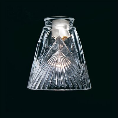 Flat Edge Clear Patterned Glass Shade