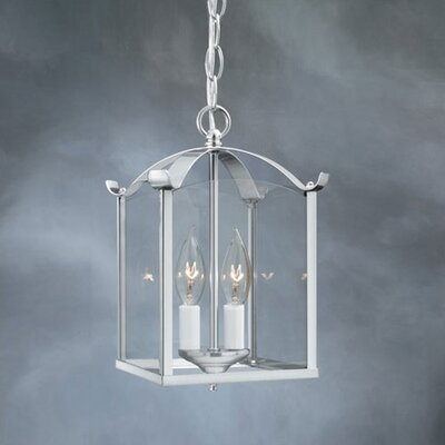 2 Light Lantern Foyer Pendant