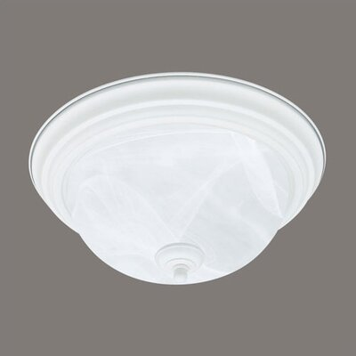 1 Light Glass Flush Mount