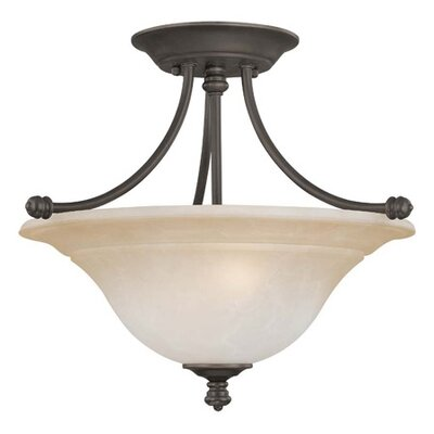 Thomas Lighting Harmony 2 Light Semi Flush Mount
