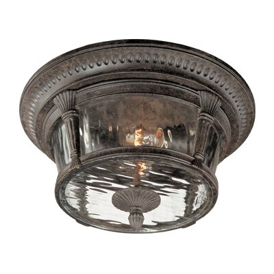 Thomas Lighting Park Place Outdoor Flush Mount in Burnished Umber