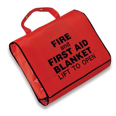"Swift First Aid 62"" X 80"" 0.9 Lightweight Wool Fire And First Aid Blanket In A Case"