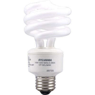 Sylvania Dulux Electronic 19 Watt Mini Twist Compact Fluorescent Bulb in Soft White