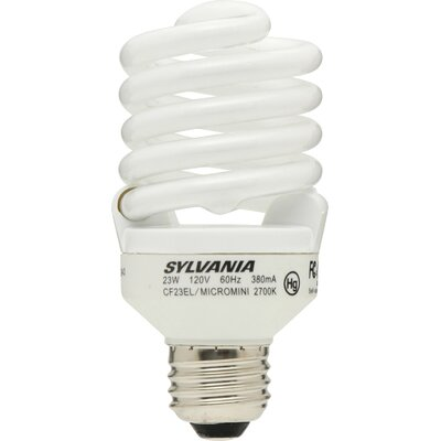 Sylvania 23 Watt Micro Mini Compact Fluorescent Bulb (2 Pack)