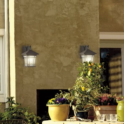 Westinghouse Lighting Riverbend Exterior 1 Light Water Glass Wall Lantern