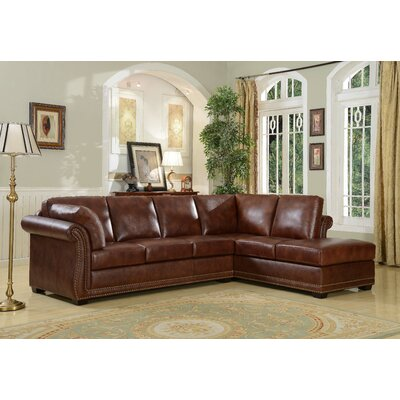 Hathaway Leather Sectional