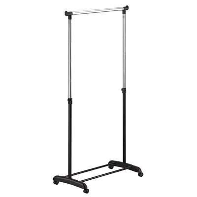 Ultra Capacity Adjustable Garment Rack in Black and Chrome