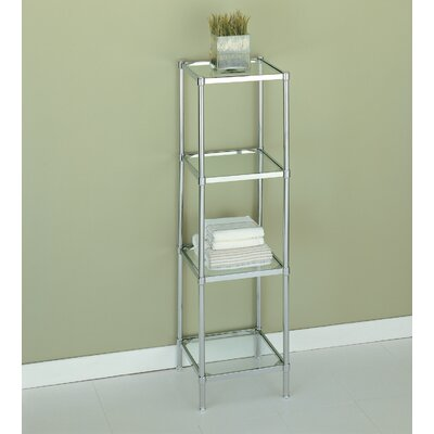 OIA Glacier Four Tier Etagere in Chrome