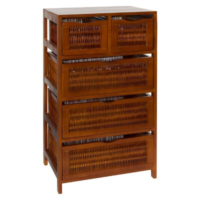 OIA Chestnut 5 Drawer Storage Chest
