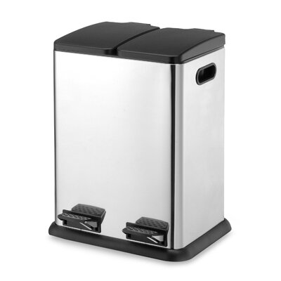OIA 10.5 Gallon Two Compartment Step-On Bin