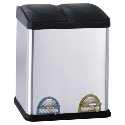 <strong>OIA</strong> 7.93-Gal. 2 Compartment Step-On Recycling Bin