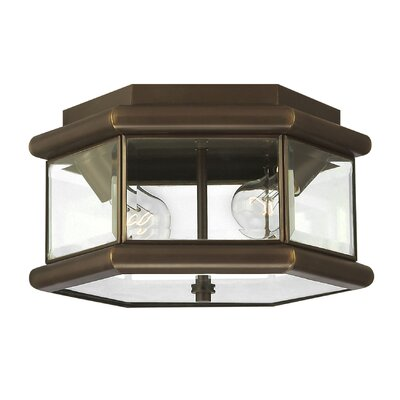 Hinkley Lighting Clifton Park Outdoor Flush Mount in Copper Bronze