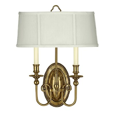 Hinkley Lighting Oxford Two Light Wall Sconce in Burnished Brass