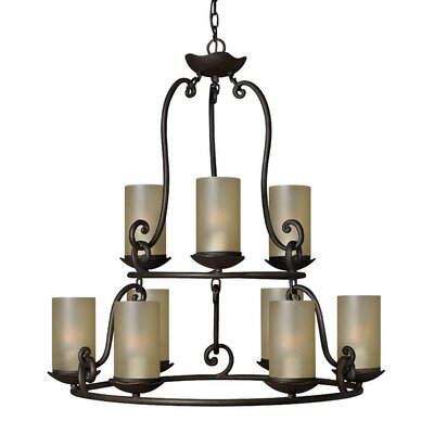 Hinkley Lighting Gold Hill 9 Light Chandelier