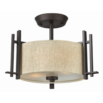 Sloan 2 Light Semi Flush Mount