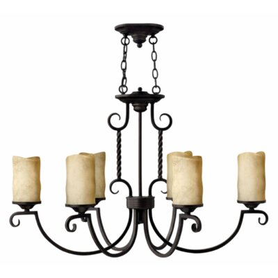 Hinkley Lighting Casa 6 Light Chandelier with Scavo Glass