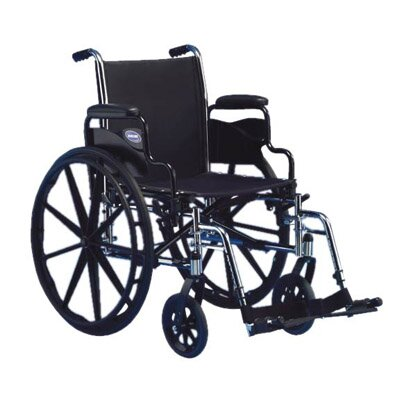 Invacare Flip Back Height Wheelchair Fixed Full Arms
